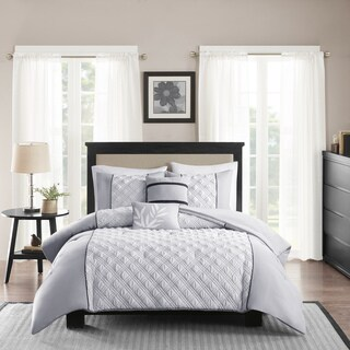 Madison Park Michelle Grey 5-piece Comforter Set