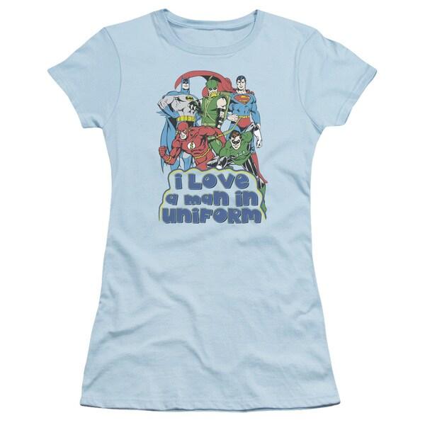 DC/I Love A Man in Uniform Junior Sheer in Light Blue