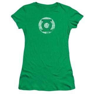 DC/Distressed Lantern Logo Junior Sheer in Kelly Green