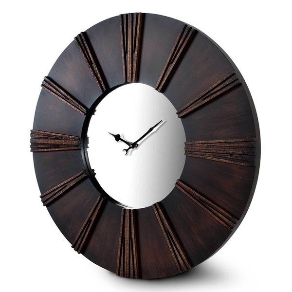 Kendrick Dark Wood Wall Clock