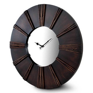 Kendrick Dark Wood Wall Clock