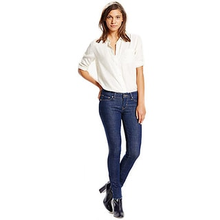 Levi's Women's 524 Dark Blue Straight Jeans