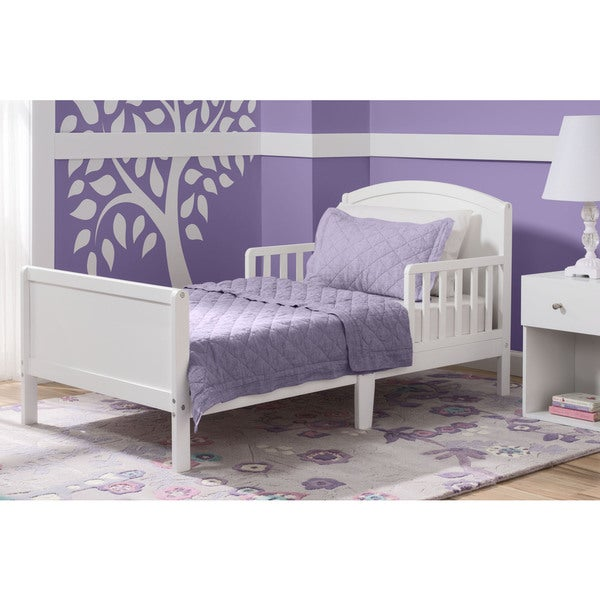 Delta Children Archer Bianca White Toddler Bed
