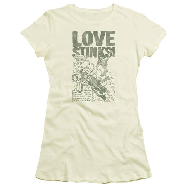 Green Lantern/Love Stinks Junior Sheer in Cream