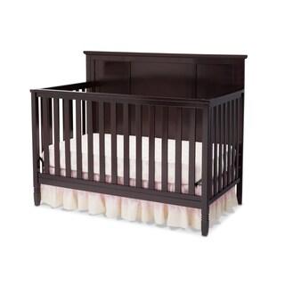 Delta Children Easton Dark Chocolate Brown Pine/MDF 4-in-1 Convertible Crib