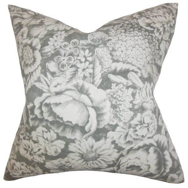 Elspeth Floral Throw Pillow Cover