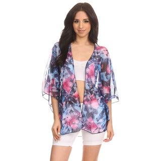 Dippin Daisy's Gems Women's Multi-color Chiffon Kimono