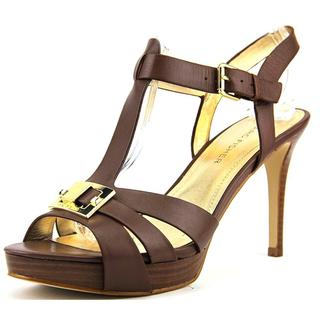 Marc Fisher Women's Varika 2 Brown Leather Sandals