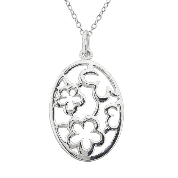 Haven Park Flower Medallion Pendant Necklace