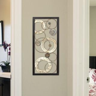 Stratton Home Decor Multi Metallic Circles Wall Decor