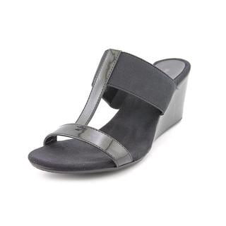 Style & Co Women's Vern Black Synthetic Wedge Sandals
