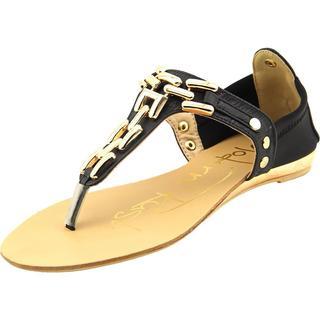 Modern Rush Women's Veronica Black Faux-leather Sandals