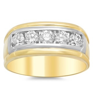 Artistry Collections 14k White Gold 1.5-carat TDW Diamond Men's Ring
