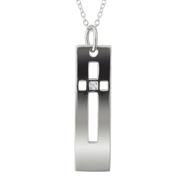 Haven Park Cut-Out Cross Pendant Necklace