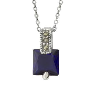 Haven Park Blue Cubic Zirconia Pendant