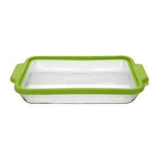 Anchor Hocking Trufit Green Glass 10-inch x 15-inch 3-Quart Baking Dish with Lid