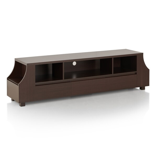 Furniture of America Basa Contemporary Walnut 70-inch TV Stand 19059899