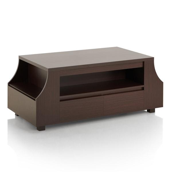 Furniture of America Basa Contemporary Walnut Storage Coffee Table