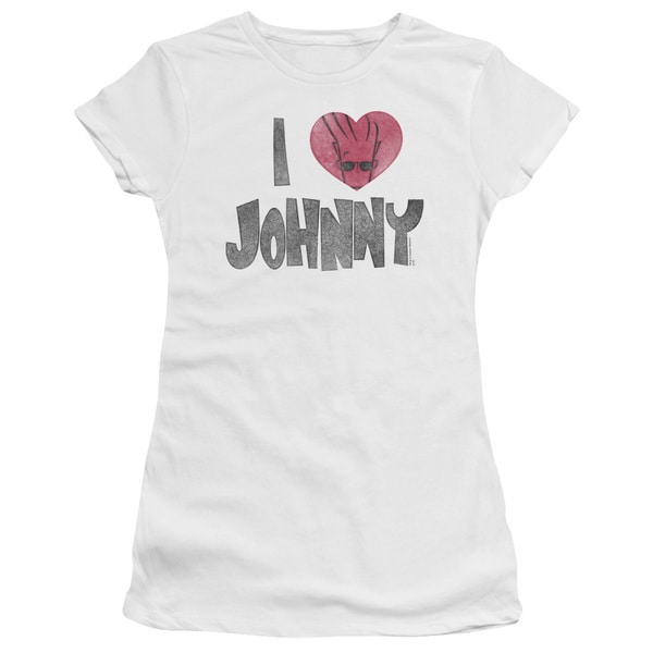 Johnny Bravo/I Heart Johnny Junior Sheer in White