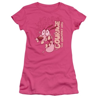 Courage The Cowardly Dog/Running Scared Junior Sheer in Hot Pink