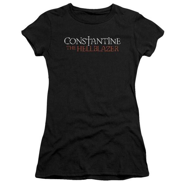 Constantine/Hellblazer Logo Junior Sheer in Black