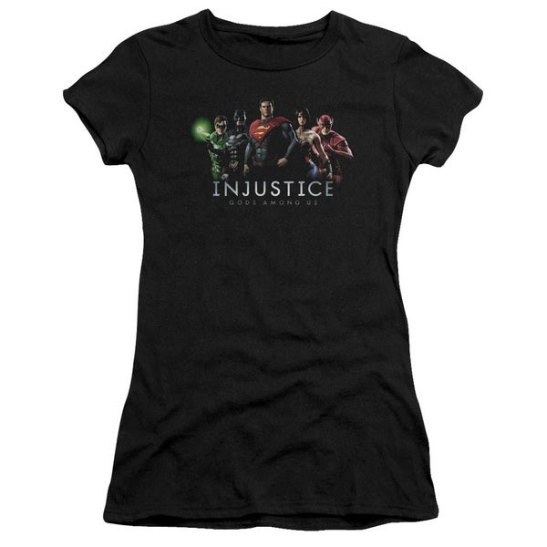 Injustice Gods Among Us/Injustice League Junior Sheer in Black