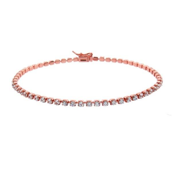 Eternally Haute 14k Rose Goldplated 4.5-carat Tennis Bracelet 19062932