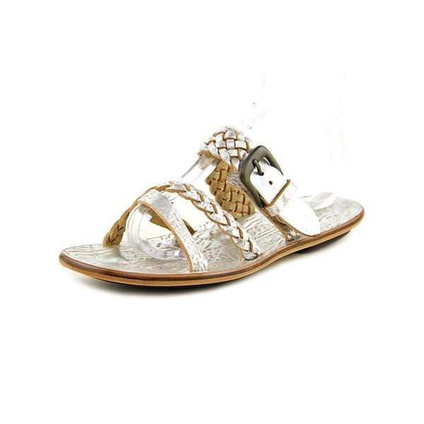 Emozioni Women's W0416 Silver Leather Slide Sandals