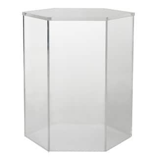 Diaphan Acrylic 16-inch x 14-inch x 18.5-inch Accent Table