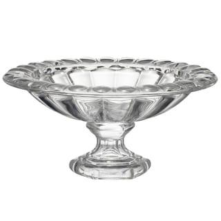 Omari Crystal 13-inch X 6-inch Pedestal Dish