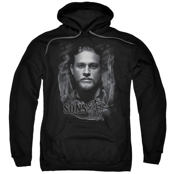 Sons Of Anarchy/Jax Adult Pull-Over Hoodie in Black