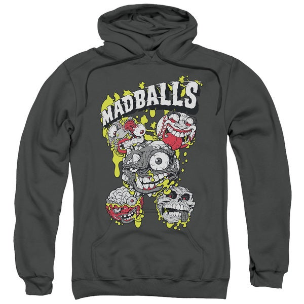 Madballs/Slime Balls Adult Pull-Over Hoodie in Charcoal