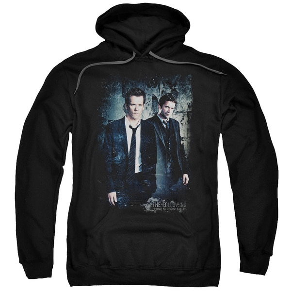 Following/Good Vs Evil Adult Pull-Over Hoodie in Black