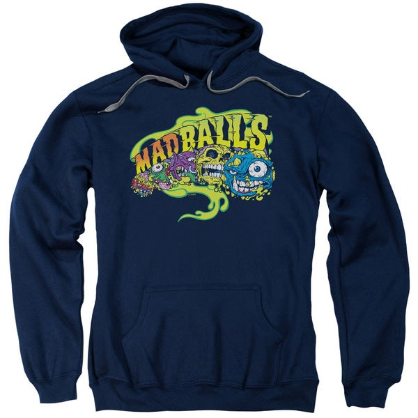 Madballs/Mad Logo Adult Pull-Over Hoodie in Navy