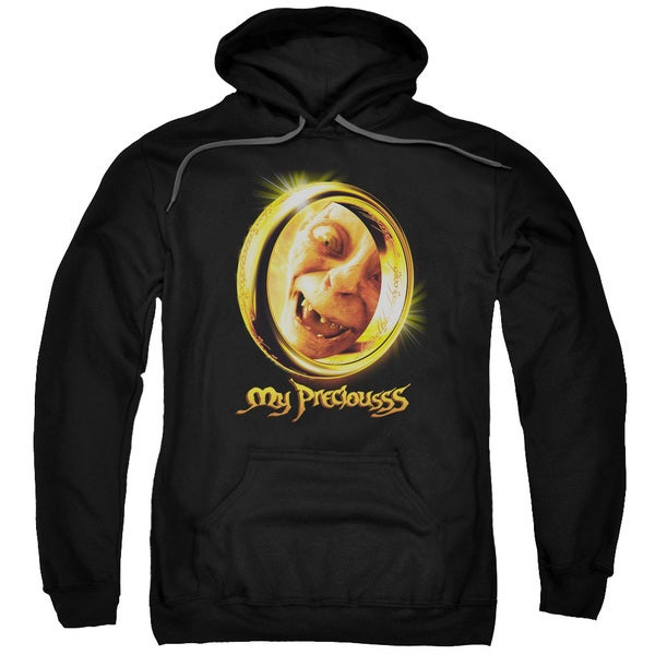 LOTR/My Precious Adult Pull-Over Hoodie in Black
