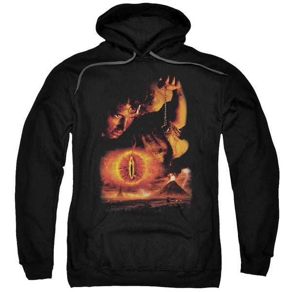 LOTR/Destroy The Ring Adult Pull-Over Hoodie in Black