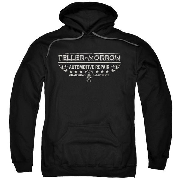 Sons Of Anarchy/Teller Morrow Adult Pull-Over Hoodie in Black