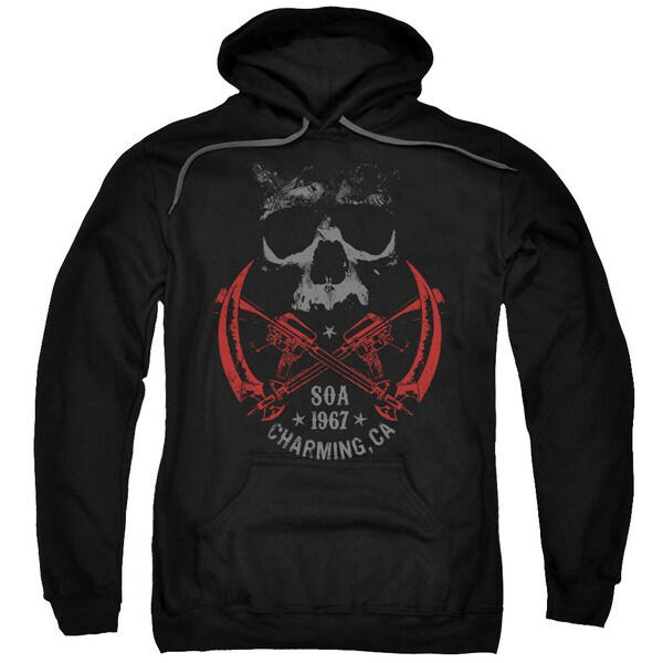 Sons Of Anarchy/Cross Guns Adult Pull-Over Hoodie in Black