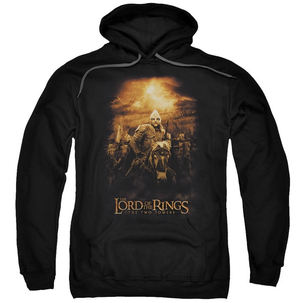 LOTR/Riders Of Rohan Adult Pull-Over Hoodie in Black