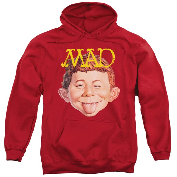 Mad/Absolutely Mad Adult Pull-Over Hoodie in Red