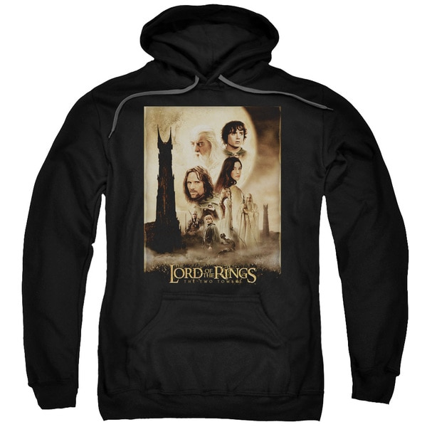LOTR/Tt Poster Adult Pull-Over Hoodie in Black