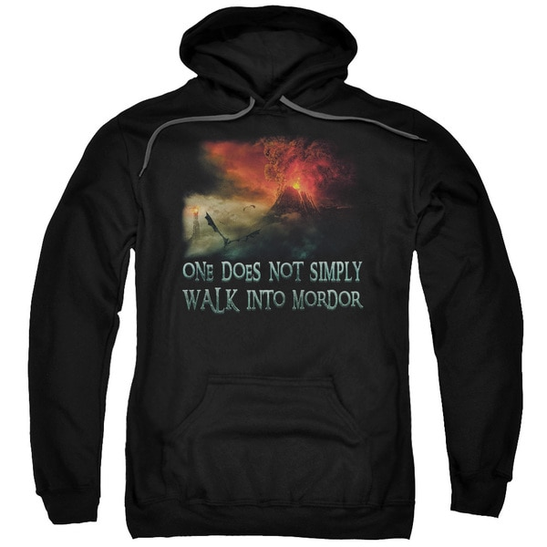 LOTR/Walk in Mordor Adult Pull-Over Hoodie in Black