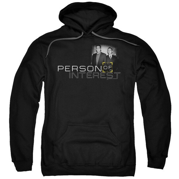 Person Of Interest/Logo Adult Pull-Over Hoodie in Black