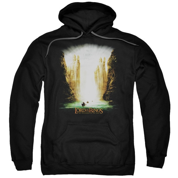 LOTR/Kings Of Old Adult Pull-Over Hoodie in Black