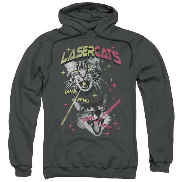 SNL/Laser Cats Adult Pull-Over Hoodie in Charcoal