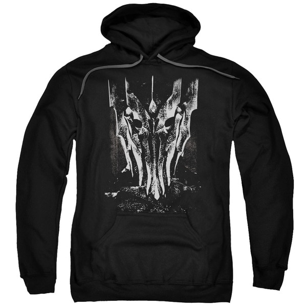 LOTR/Big Sauron Head Adult Pull-Over Hoodie in Black