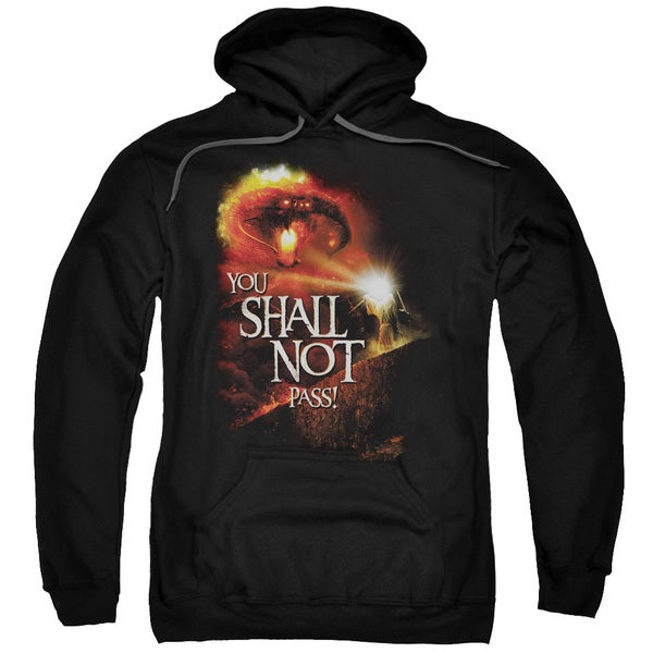 LOTR/You Shall Not Pass Adult Pull-Over Hoodie in Black