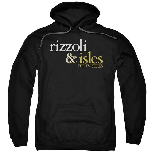 Rizzoli &Amp; Isles/Logo Adult Pull-Over Hoodie in Black