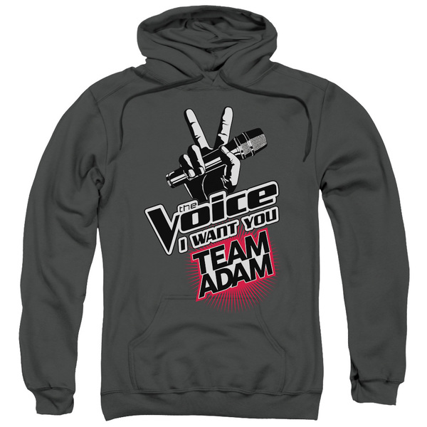 The Voice/Team Adam Adult Pull-Over Hoodie in Charcoal