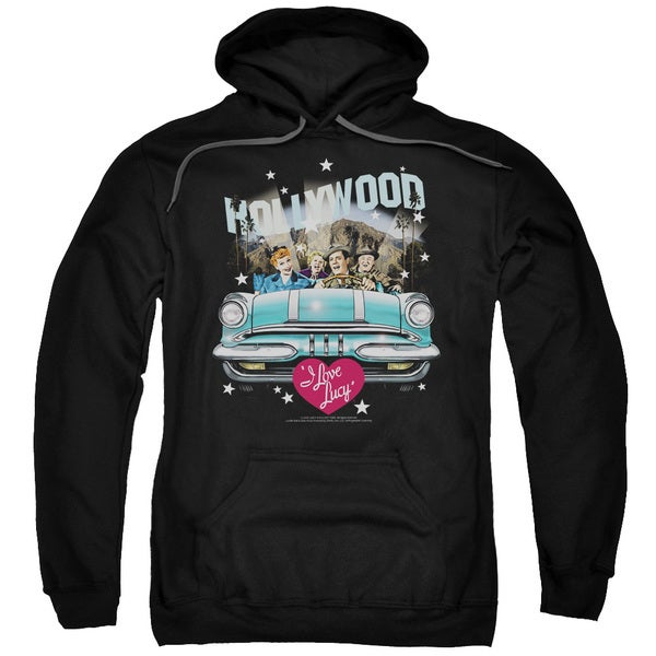 Lucy/Hollywood Road Trip Adult Pull-Over Hoodie in Black